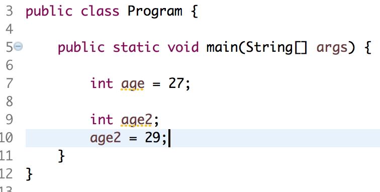 neuer variable einen Wert zuweisen
