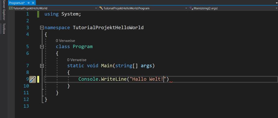 console writline methode mit parameter