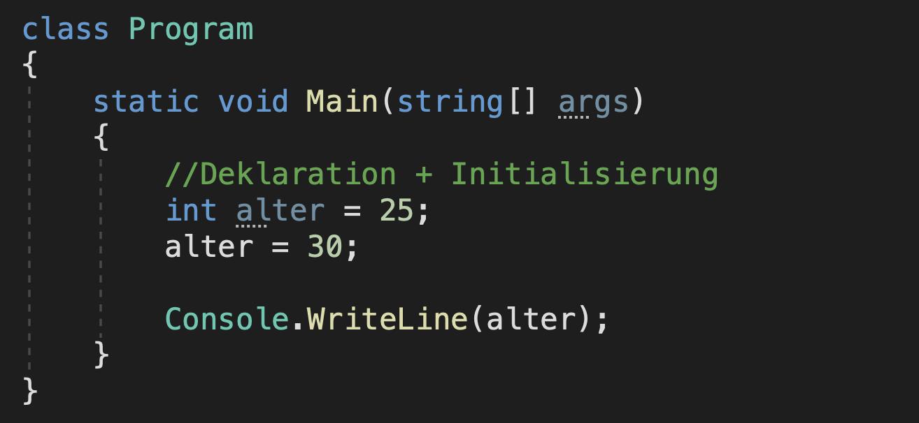 c# variable überschreiben