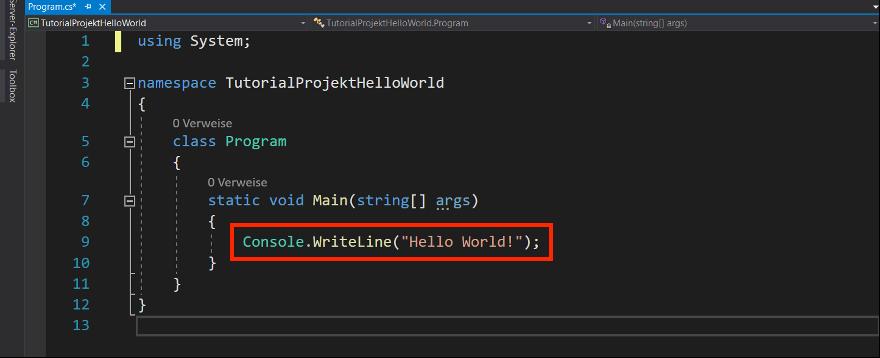 c# methode WriteLine