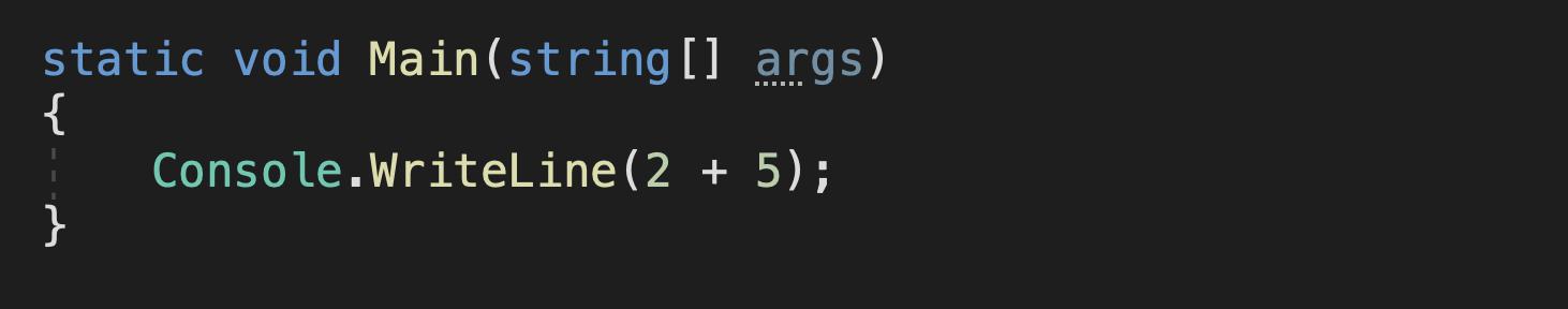 c# operatoren beispiel mathematischer ausdruck